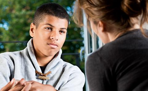 Young service use talking to mental health professional