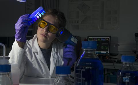 Student doing research in a lab