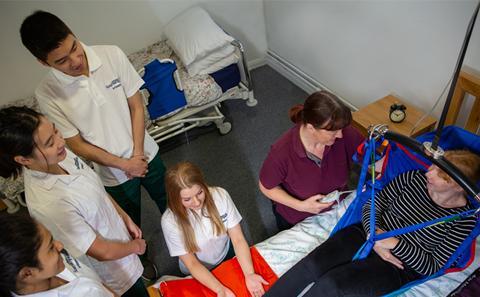Hoisting patient