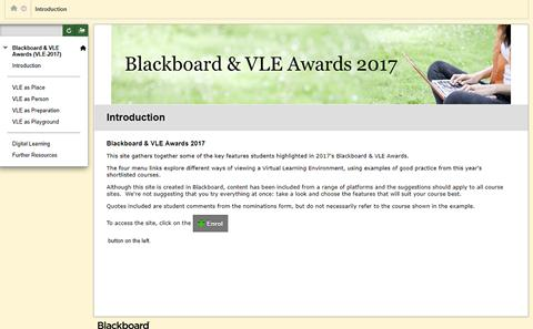 Example Blackboard course site