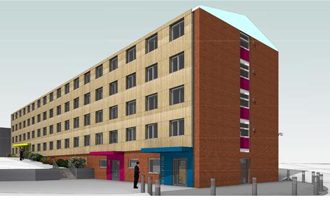 Artist's impression of new redevelopment at Glen Eyre halls. New images coming soon.