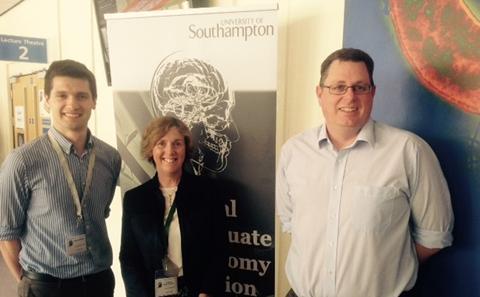 Simon McElligott with Karen Morrison and John Holloway