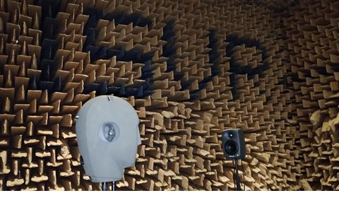 Measuring a HRTF in our large Anechoic Chamber