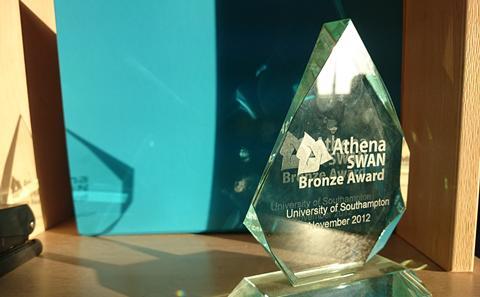 Bronze Athena SWAN award statuette