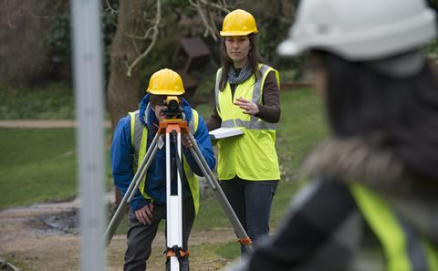 Civil Engineering students conduct a survey