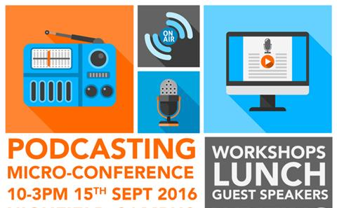Podcast conference poster