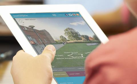 Virtual tour on an iPad
