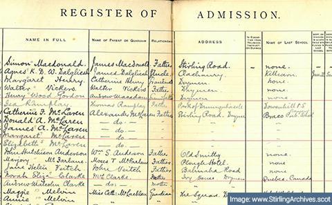 Register of attendence