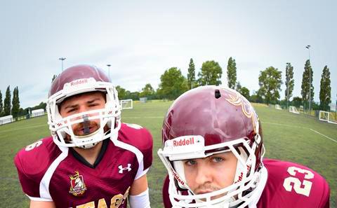 Southampton students playing American football