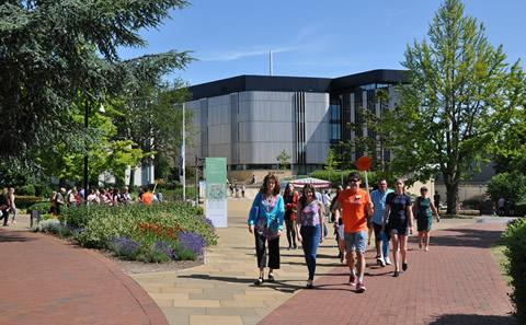 A campus tour at our summer Open Day