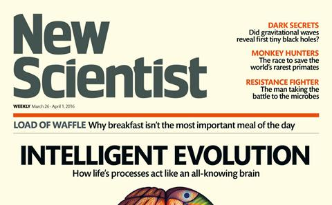 Cover of New Scientist magazine