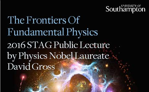 2016 STAG public lecture by Physics Nobel Laureate David Gross