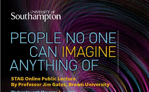Online STAG Lecture Prof Jim Gates