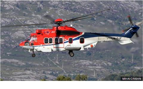 Photograph of the super puma involved in the accident