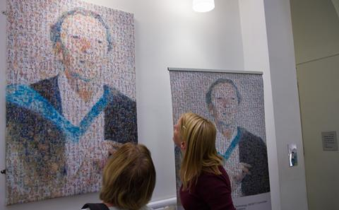 Mosaic portrait of Isbel Campbell