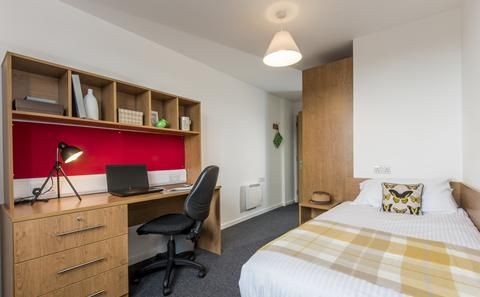 An example of an en suite category 1 room in City Gateway
