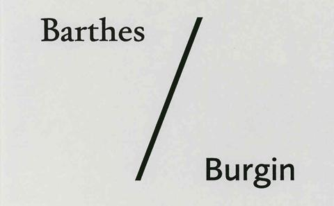 The cover of the Barthes/Burgin book