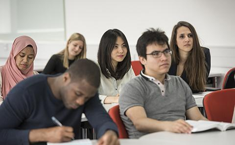 Students in a room