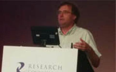 Tim Leighton at a conference