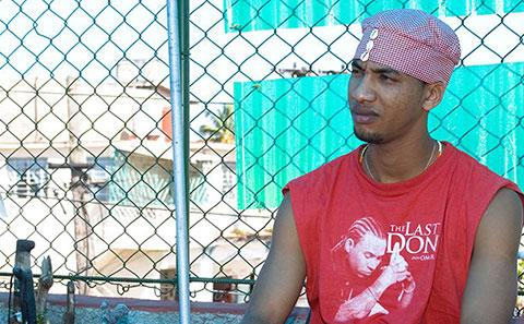 Cuban young man