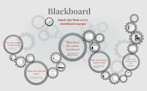 Timely tips from Blackboard courses