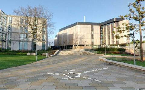Explore campus using the virtual open day