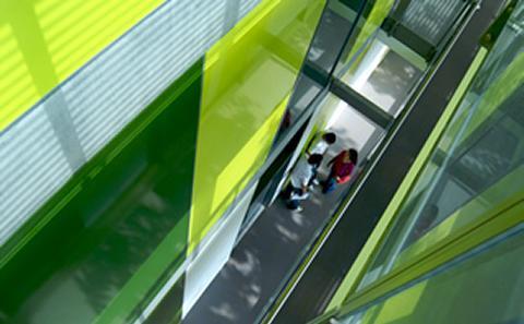 inside green building