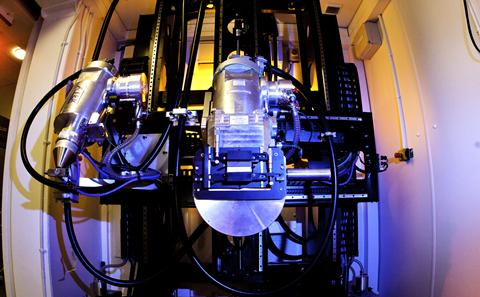 Scanning facilities at the Highfield campus - image shows inside of the Hutch system