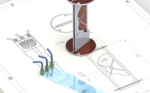 Probe and microfluid chip design