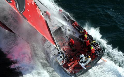 Volvo ocean race yacht