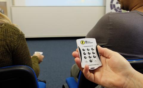 A Student Response System in use
