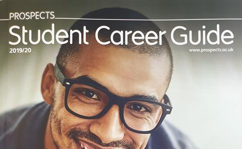 The front cover of the Prospects Student Career Guide