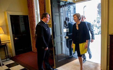 Theresa May enters No10