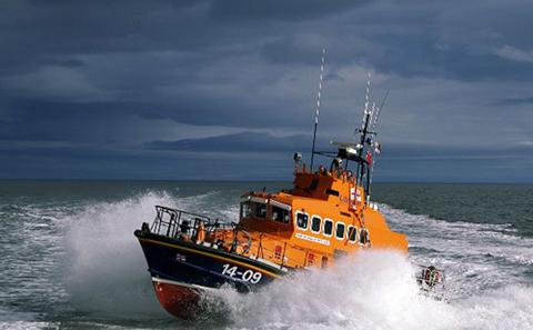 Life boat on the sea