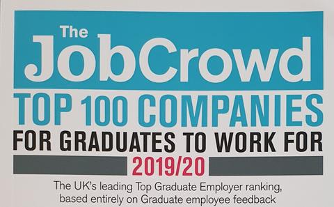 The front cover of The Job Crowd - Top 100 Graduate Employers
