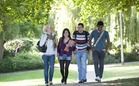 Undergraduate students on campus