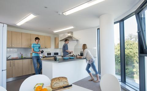 A kitchen in Mayflower Halls