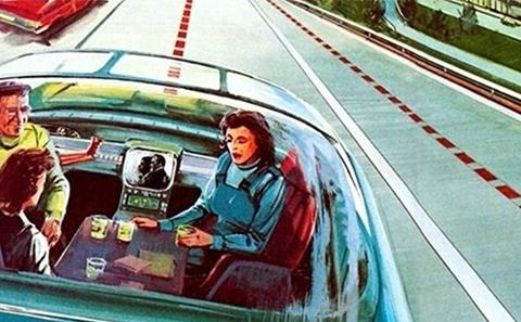 Self driving car of the past future