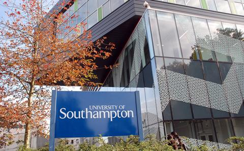 Mountbatten building with University of Southampton sign