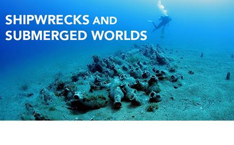 Divers in deep sea