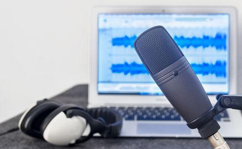 Microphone used to record podcasts