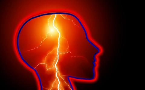 Graphic image  representing electrical activity in the brain