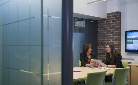student speaking to careers advisor