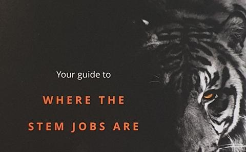 The front cover of the Gradcracker - Your Guide to where the STEM Jobs are