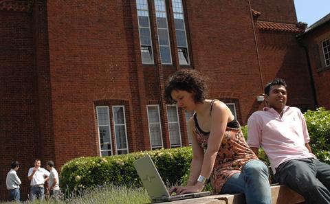 Southampton student on Highfield campus.