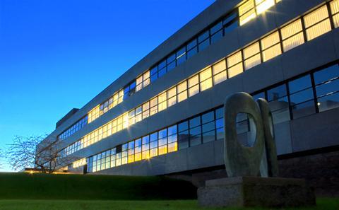campus building at night