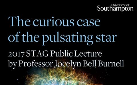 2017 STAG public lecture by Dame Jocelyn Bell Burnell