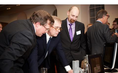 HRH the Duke of York inspecting StarStream device