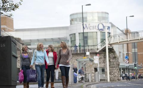 West Quay shopping