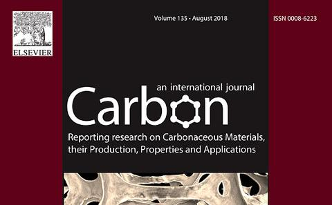"L.F.Arenas et al. work featuring ""Carbon"" journal's cover. Volume 135 (August 2018)"